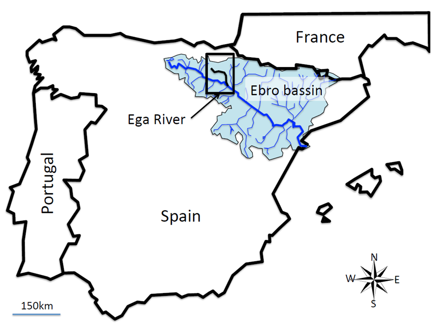 Map Of Spain Ebro River.Evolution Of Wild And Feral Vines From The Ega River Gallery Forest